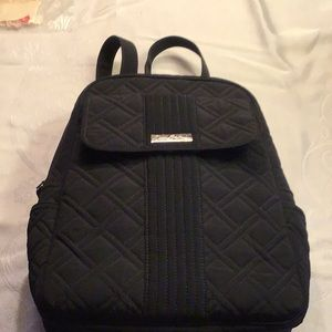 Black quilted black backpack Vera Bradley